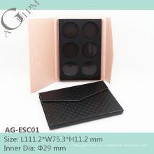 Qute & spezielle rechteckige Papier Lidschatten Fall AG-ESC01, AGPM Kosmetikverpackungen, benutzerdefinierte Farben/Logo