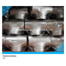ASTM Buttweld Seamless iguales de acero inoxidable Tee