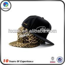 large acrylic letters corduroy leopard flat bill snapback hat