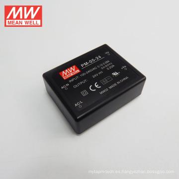 MEAN WELLencapsulated Type Type Switching fuente de alimentación 5W 24Vdc salida única ULCB PM-05-24