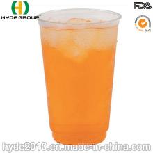 Tasse en plastique empilable jetable de pp pour le jus