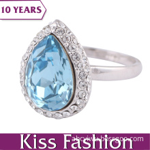 2014 Fashion Ocean Blue Silver Color Crystal Ring (KissFashion1731)