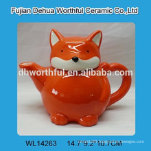 Popular orange fox ceramic tea pot