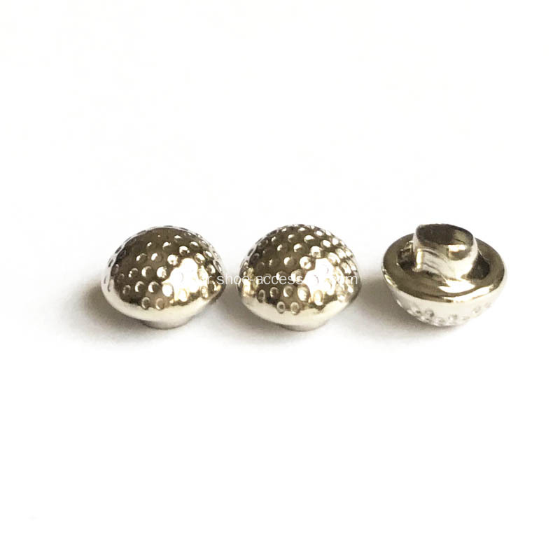 Metal Half-Ball Rivets Dot Effect Cap avec Post 8mm