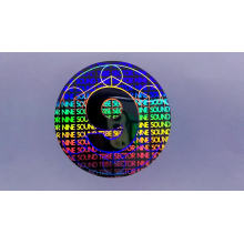 custom logo anti-counterfeiting label one time use void security 3D hologram sticker printing