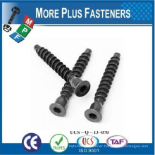 Made in Taiwan Wood Screw Confirmat Countersunk Head Hexagon or Pozi Drive Coarse Thread Dog Point