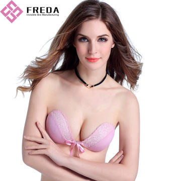 Mode roze kanten push-up strapless bh