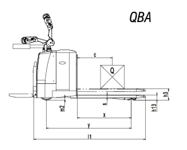 QBA Platform powered pallet truck