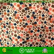 Tissu imprimé par fleur de polyester pour des vestes de vêtements