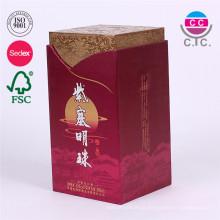 Caixa de papel de vinho com cartão personalizado de alta qualidade com tampa