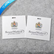 Preço de fábrica Etiqueta de papel para logotipo de marca extravagante / etiqueta de balanço impressa
