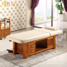 material de madera salón de belleza facial masaje cama