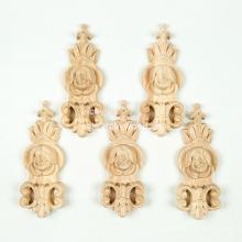 Estilo de madeira maciça e ornamento alemão onlays de madeira mão entalhada em madeira