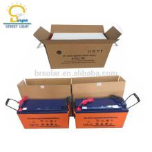 libre de mantenimiento 5-8 años de batería de plomo-ácido totalmente sellada de gel solar 12v 150ah