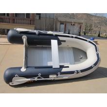 Barco de pesca inflable de piso de aluminio