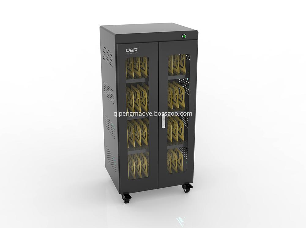 Security locker charging cart