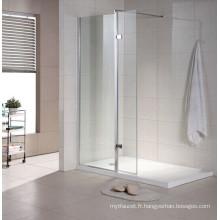 Fabricant professionnel d'écran de salle de bain en verre / douche (T3)
