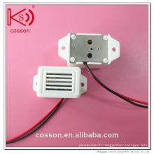 400Hz 6V 3V 1.5V DC Animal Drive White Buzzer