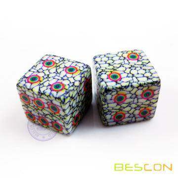 Fully Customized Plastic Dice with CMYK Printing