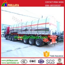 3achs Fuel Milchwagen Edelstahl Tankwagen Auflieger