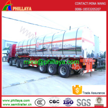3axles Fuel Milk Truck Stainless Steel Tanker Semi Trailer