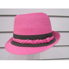 Chapéus Fedora Sun de trança de papel fino - YJ36