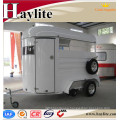 CE cercificate customized 2 horse float horse trailer straight load