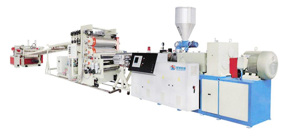 PVC free foam sheet machine line
