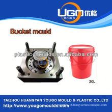 TUV assesment mold factory / new design 10 litros de plástico paint bucket molde na China