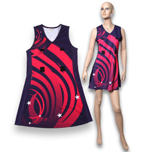 Moda a buon mercato di netball dress poliestere netball gonna