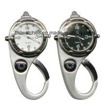Meilleure montre mousqueton étanche avec boussole et lampe de poche