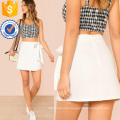 Knot Side Overlap Front Skirt Manufacture Wholesale Fashion Women Apparel (TA3088S)