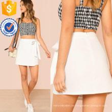 Knoten Seite Überlappen vorne Rock Herstellung Großhandel Mode Frauen Bekleidung (TA3088S)