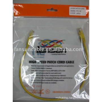 "Cat5e FTP 26AWG Patch Cord UL List Pass Fluke Test RJ45 Gold Plated 3U""/50U"""