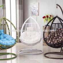 Mobiliário de jardim ao ar livre conjunto de cadeira de balanço de lágrima