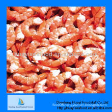 Cooked peeled tail on shrimp