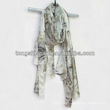 мода змея картина шарф