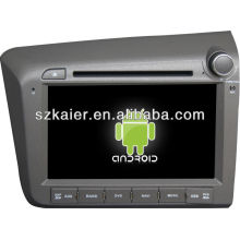 Android System car dvd player for 2012 Honda Civic(right) with GPS,Bluetooth,3G,ipod,Games,Dual Zone,Steering Wheel Control