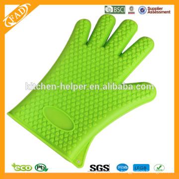 Heiß-Verkauf Fabrik Preis Fünf Finger Non-Stick Silikon BBQ Handschuh