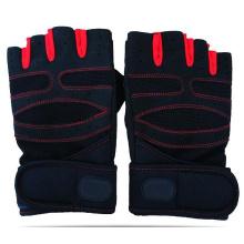 Guantes de medio dedo con entrenamiento deportivo de gimnasio para entrenamiento de levantamiento de pesas