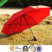 Qualitativ hochwertige drei Falten automatische Förderung Geschenk Sonnenschirme (FU-3821BAF)