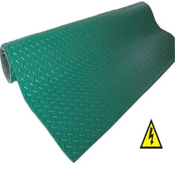 Rouleau de feuille en caoutchouc anti-dérapant vert Checker