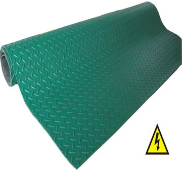 Green Checker Anti Slip Rubber Sheet Roll
