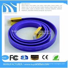 Cable plateado de alta velocidad plateado oro 2.0 de HDMI Ayuda 4k * 2K, 1080p, 3D, Ethernet