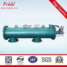 Instalación horizontal de filtros de agua para el sistema de tratamiento de agua de refrigeración