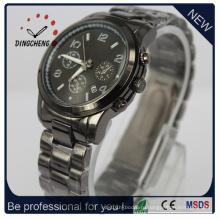 Кварцевые часы из нержавеющей стали водонепроницаемые часы (ДК-317)