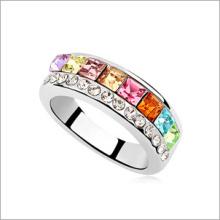 Anel de dedo de cobre moda de zircão VAGULA