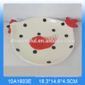 Kundenspezifische keramische Keramik-Utensilienhalter-Set mit beliebter Hühnerform