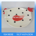 Custom ceramic ceramic utensil holder set with popular chicken shape