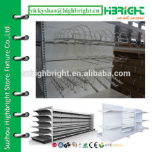 grid hook for perforated back panel supermarket gondola